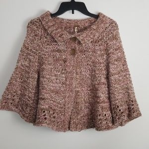 Free People Crocheted Bell Sleeve Sweater Size L